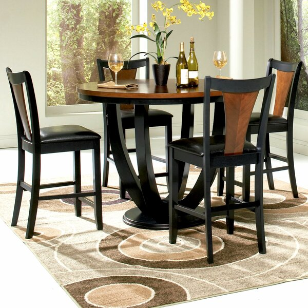 Mayer 5 Piece Counter Height Dining Set by Infini Furnishings