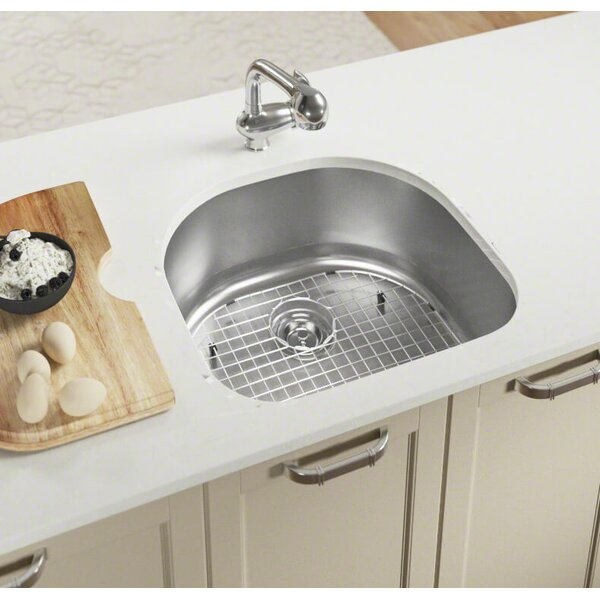 Stainless Steel 24 x 21 Undermount Kitchen Sink by MR Direct