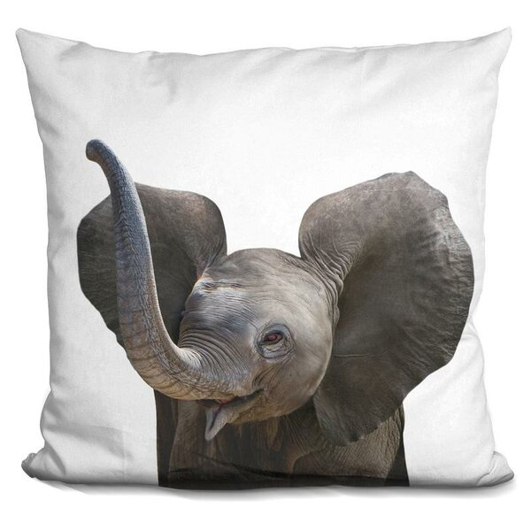 Baby Elephant Throw Pillow by East Urban Home
