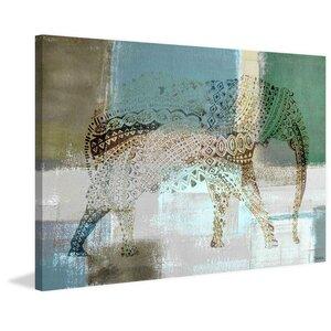 'Jeweled Elephant' Painting Print by Parvez Taj