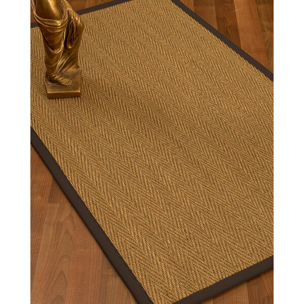 Mahaney Border Hand-Woven Beige/Brown Area Rug by Gracie Oaks