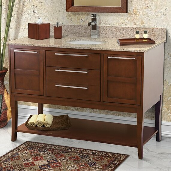 Aura 49 Single Freestanding Vanity Set by DECOLAV