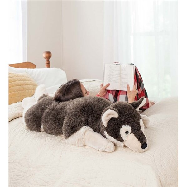 Husky Dog Plush Body Pillow by Plow & Hearth