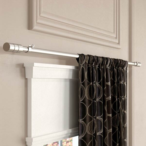 Chesson Single Curtain Rod and Hardware Set by Wade Logan