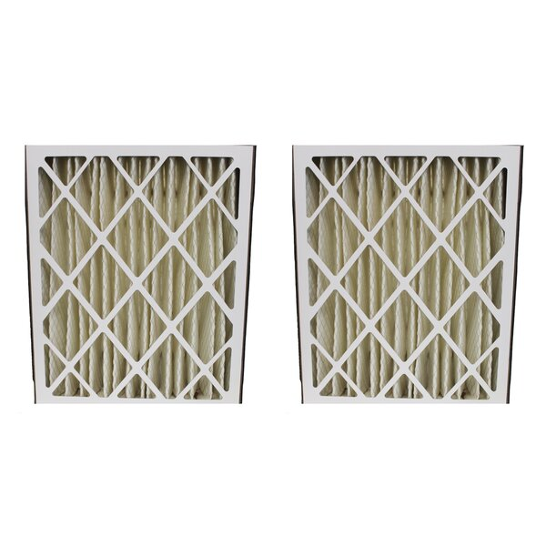 Goodman G8-1056 and M8-1056 Pleated Furnace Air Filter (Set of 2) by Crucial