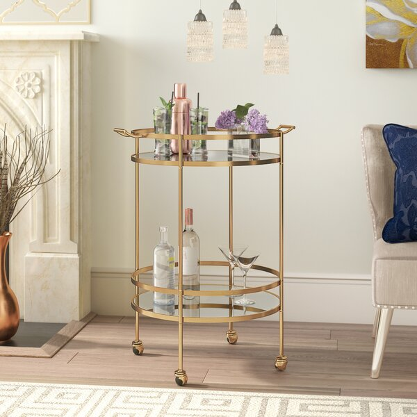 Beachlands Bar Cart by Willa Arlo Interiors Willa Arlo Interiors