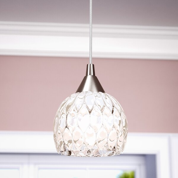 Appleton 1-Light Globe Pendant by Willa Arlo Interiors