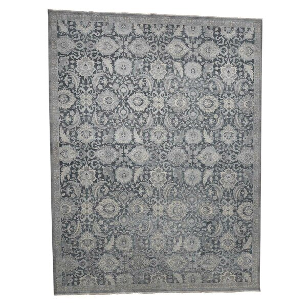 One-of-a-Kind Ballance Hand-Knotted 2010s Turkish Gray 12' x 15'10 Area Rug