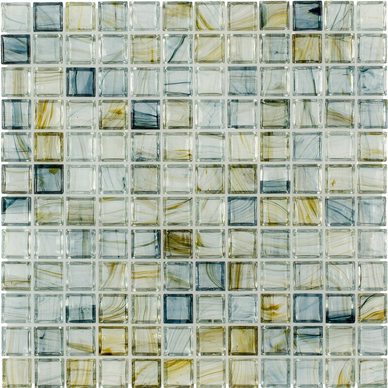Gl Mosaic Tile In Glossy Blue