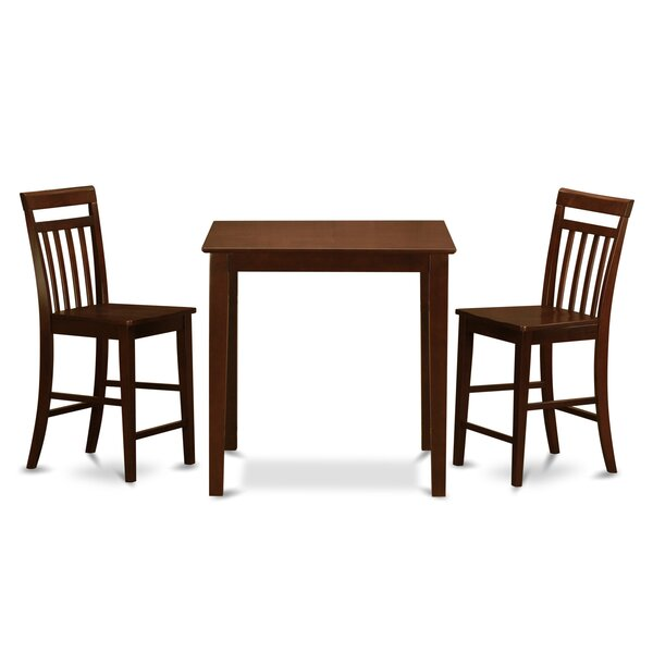 Neven 3 Piece Counter Height Pub Table Set by Charlton Home
