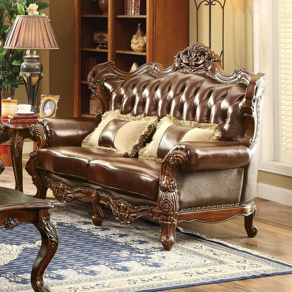 New Design Durden Leather Loveseat by Astoria Grand by Astoria Grand