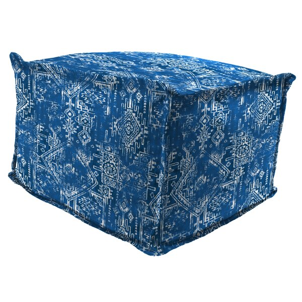 Forte Flange Edge Pouf Ottoman with Cushion by Wrought Studio
