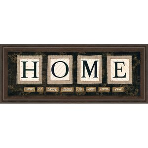 Home by Anne Lapoint Framed Textual Art by Classy Art Wholesalers