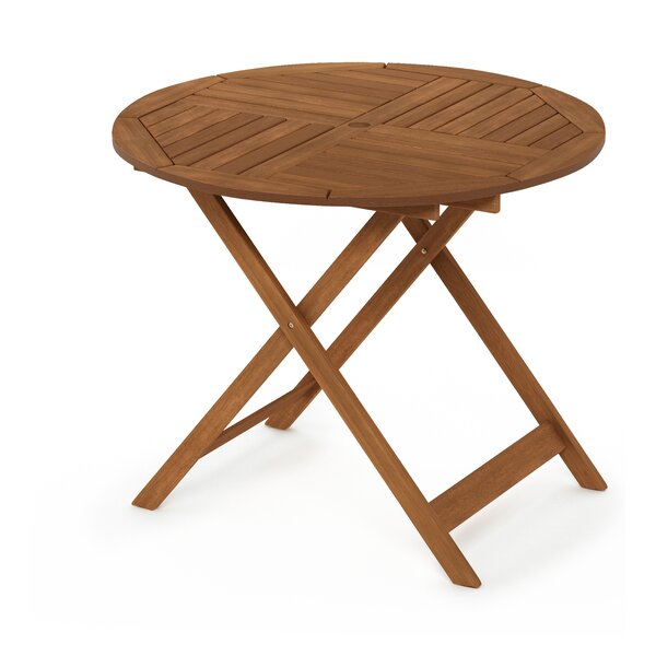 Draco Folding Wooden Dining Table by Rosecliff Heights