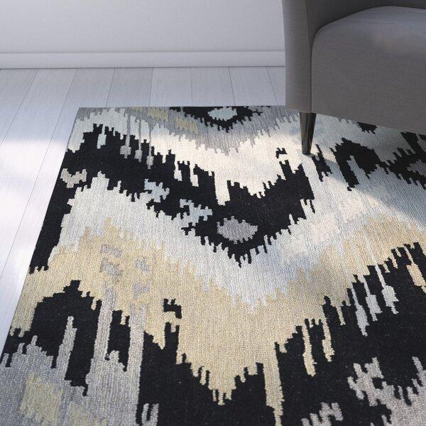 Dodge Black Area Rug by Ebern Designs