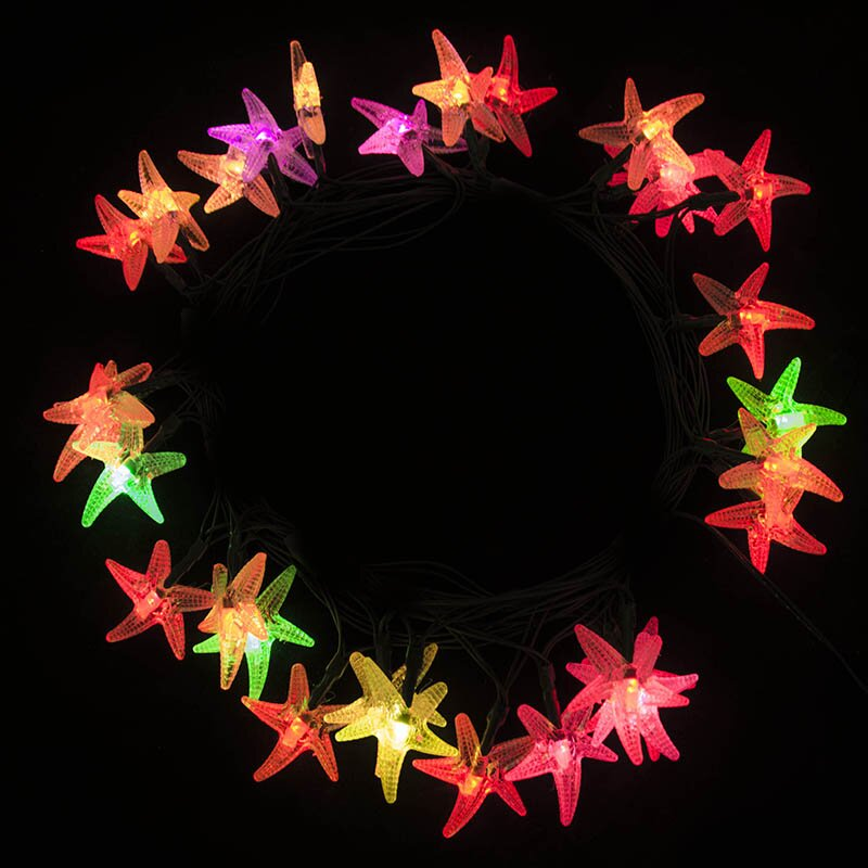 The holiday aisle star fish 30 light solar string lights for Fish string lights