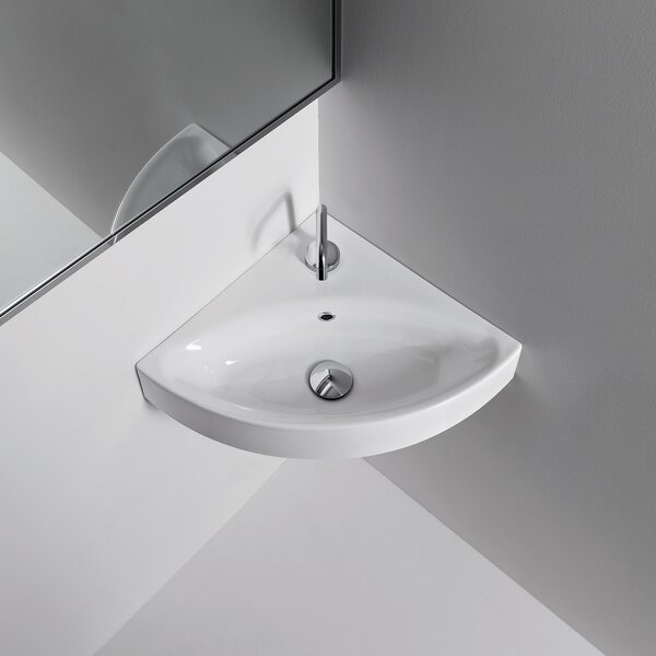 Cento Ceramic Ceramic Specialty Wall-Mount Bathroom Sink by WS Bath Collections