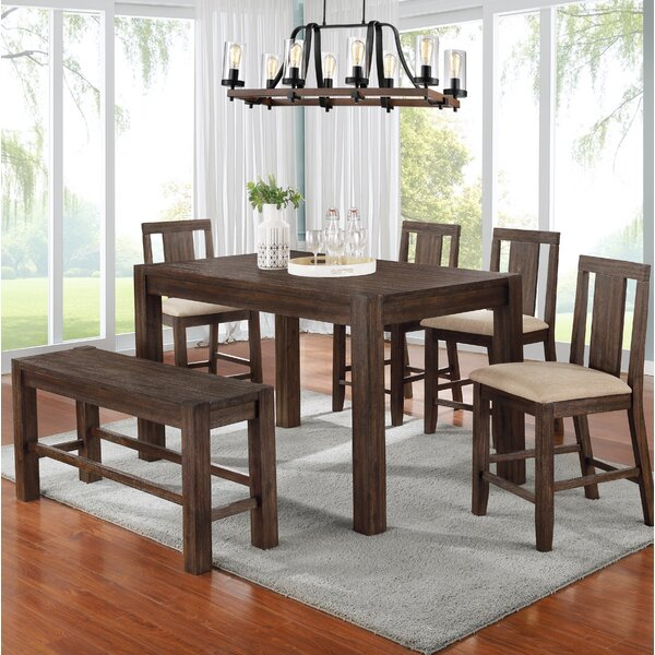 Tion 6 Piece Counter Height Dining Set by Millwood Pines Millwood Pines