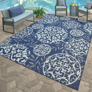 Pinehur Blue/Gray Indoor/Outdoor Area Rug by Winston Porter