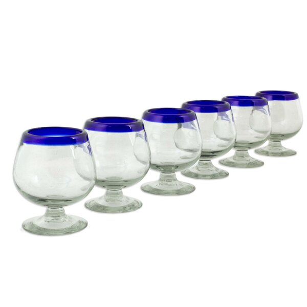 Kiss 6 oz. Cordial Glass (Set of 6) by Novica