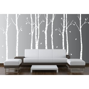 Tree Wall Decals For Living Room trees and flower wall decals you'll love | wayfair