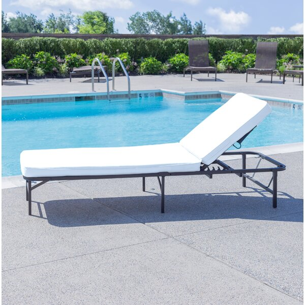 Hockensmith Reclining Chaise Lounge with Cushion