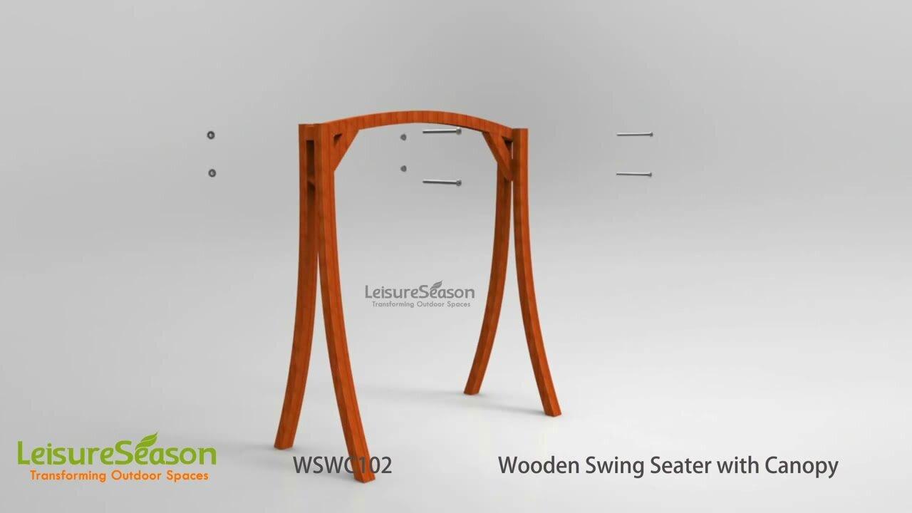 leisure season porch swing with canopy u0026 reviews wayfair