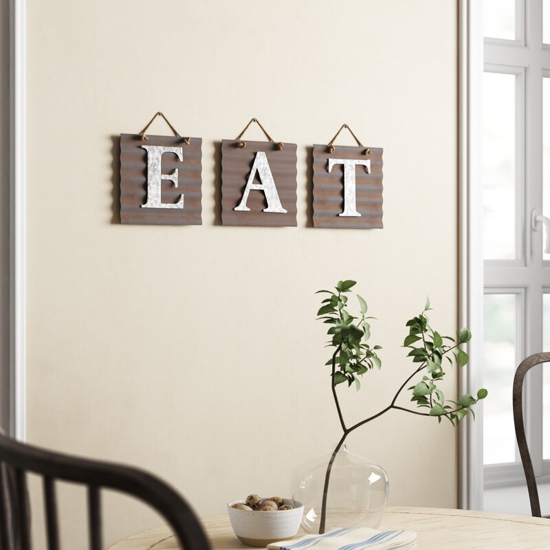 Eat Galvanized Metal Letter Wall Décor