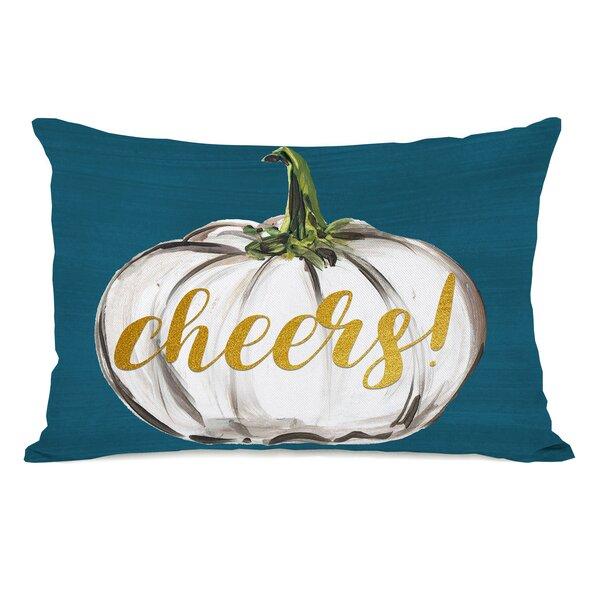 Pruett Cheers Pumpkin Lumbar Pillow by August Grove