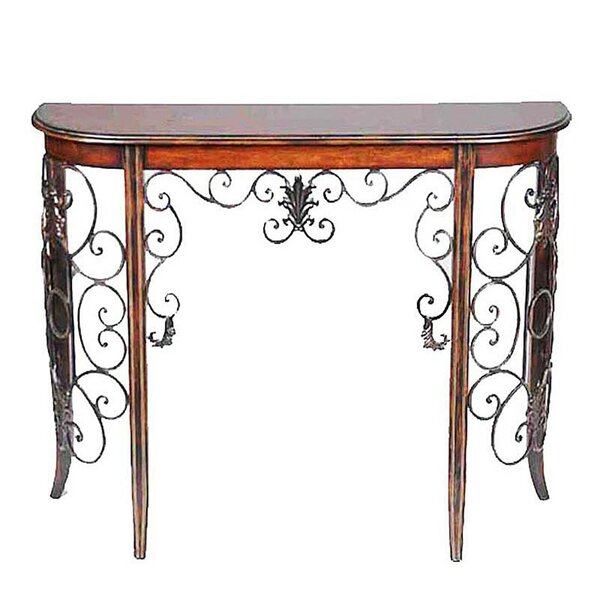 Review Devan Wooden And Metal Console Table