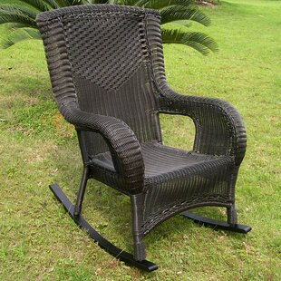 Wellington Wicker Resin Aluminum High Back Patio Rocking Chair Darby Home Co