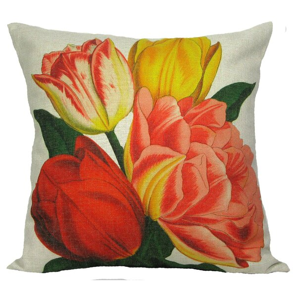 Tulip Throw Pillow by Golden Hill Studio
