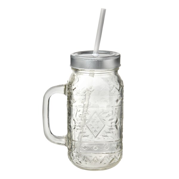 Planas 24 oz. Glass Mason Jar (Set of 4) by Union Rustic