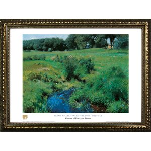 Museum Masters 'The Pool, Medfield' by Dennis Miller Bunker Framed Painting Print by Buy Art For Less