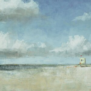 'Seaside 2' Painting Print on Wrapped Canvas by Beachcrest Home