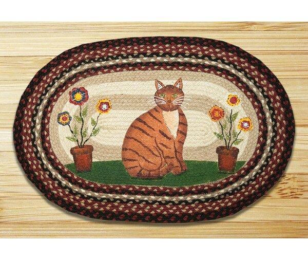 Folk Art Cat Printed Area Rug by Earth Rugs