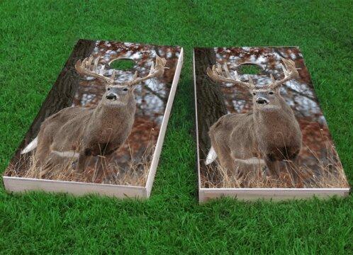 White Tail Deer Buck Cornhole Game (Set of 2) by Custom Cornhole Boards