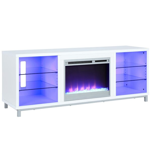 Ilyse 65 TV Stand with Fireplace by Latitude Run