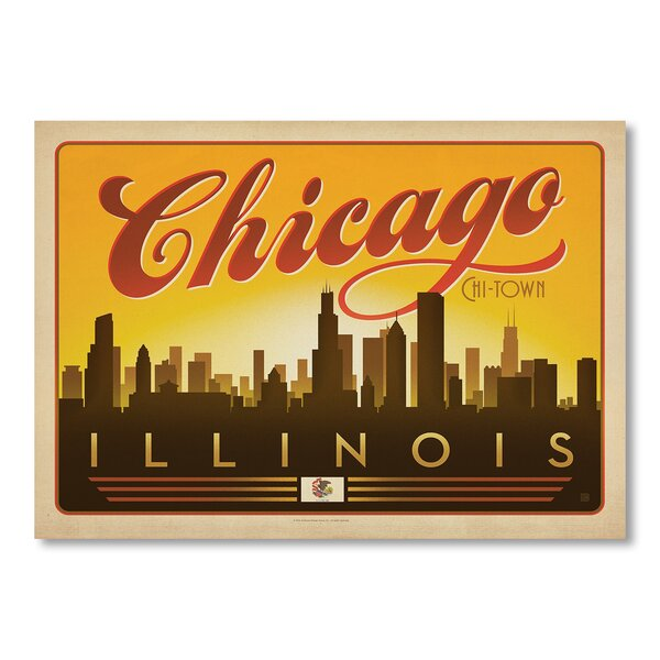 Chicago Skyline Vintage Advertisement by East Urban Home