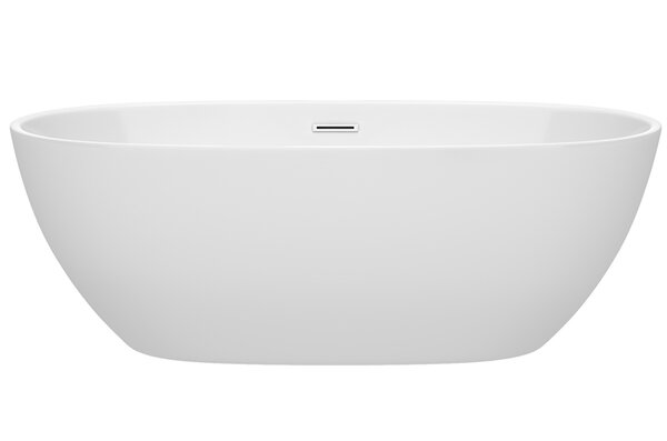 Juno 67 x 32 Freestanding Soaking Bathtub by Wyndham Collection