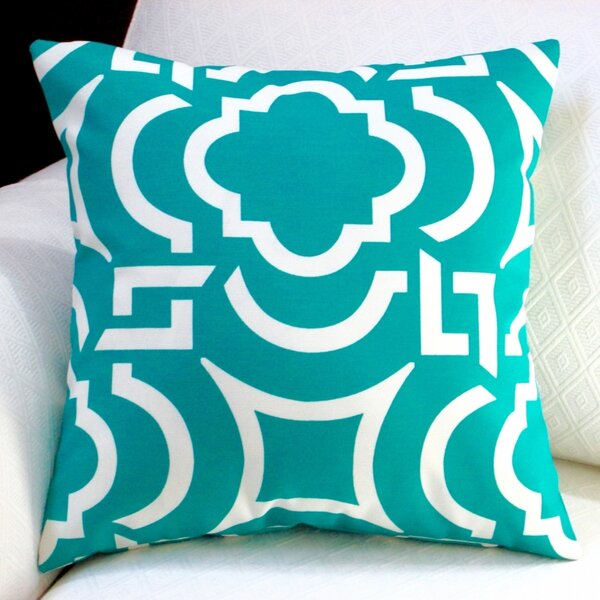 Modern Geometric Coastal Indoor/Outdoor Pillow Cover (Set of 2) by Artisan Pillows