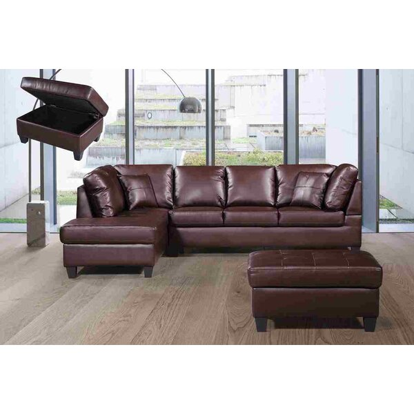 Judson Sectional with Ottoman by Wrought Studio