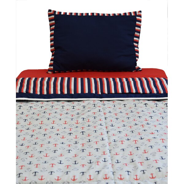 Nautical 2 Piece Twin Comforter Set by Pam Grace Creations