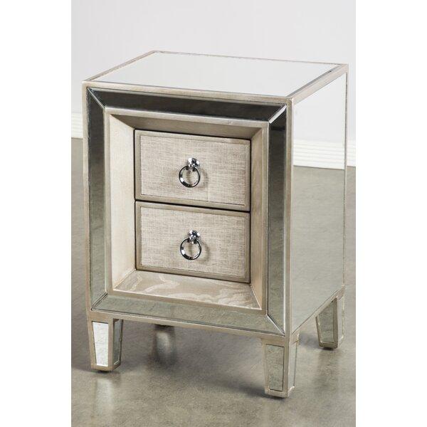 Kavia 2 Drawer Nightstand by House of Hampton
