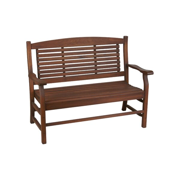 Mosquera Slat Back Garden Bench by Loon Peak
