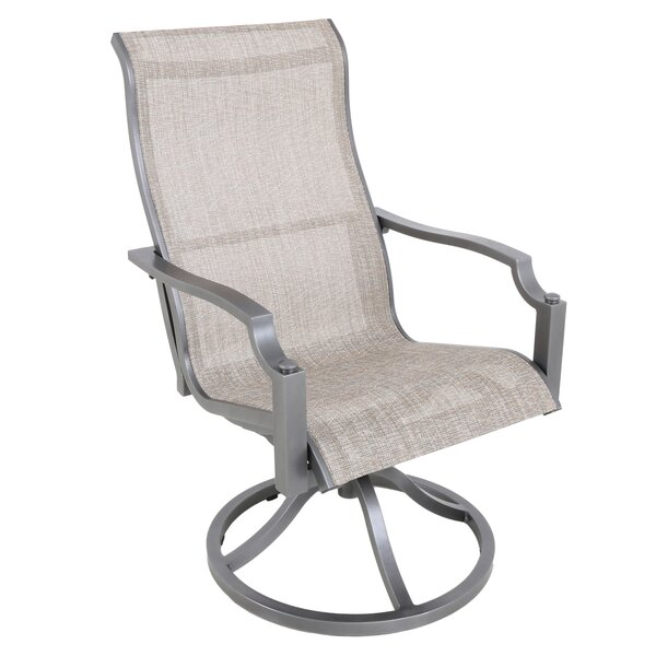 Konevsky Sling Swivel Patio Dining Chair (Set of 2) by Red Barrel Studio Red Barrel Studio
