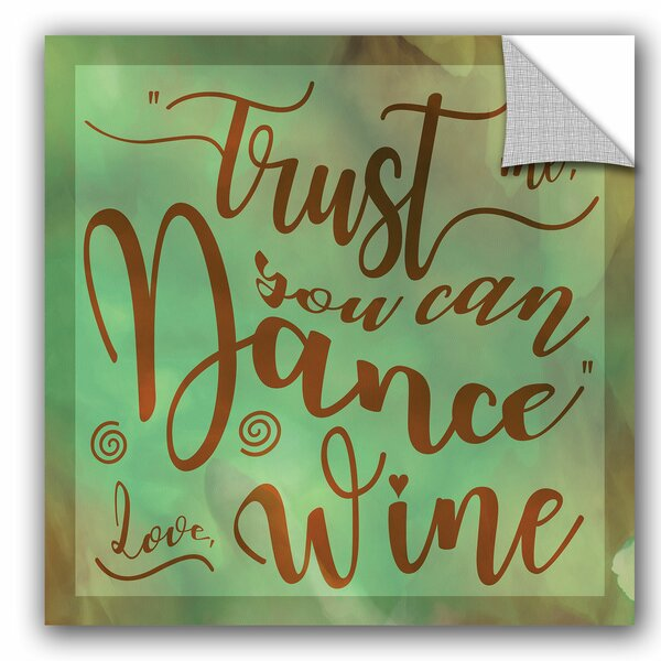 Dance Wine Removable Wall Decal by Zipcode Design
