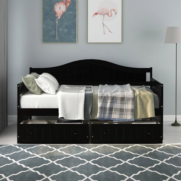 Aprilia Twin Daybed With Drawers By Red Barrel Studio