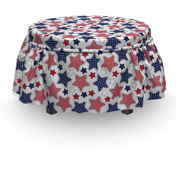 Usa Star 2 Piece Box Cushion Ottoman Slipcover Set By East Urban Home