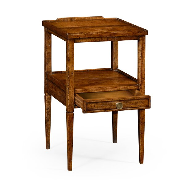 Square End Table with Storage by Jonathan Charles Fine Furniture Jonathan Charles Fine Furniture